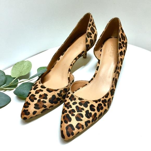 71847f525c2e 🍃J. Crew Factory D  Orsay Leopard Kitten Heels